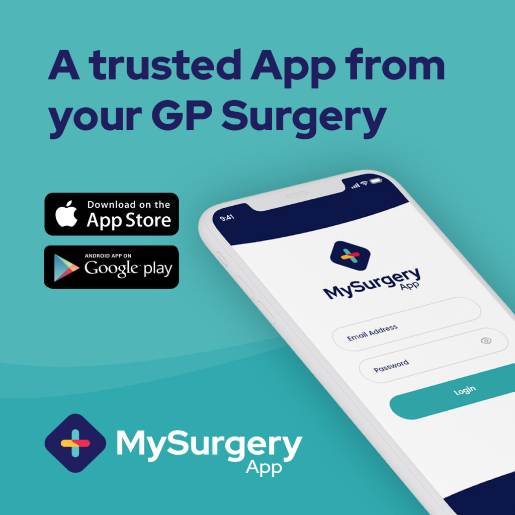 A trusted app from your surgery website.  My surgery app